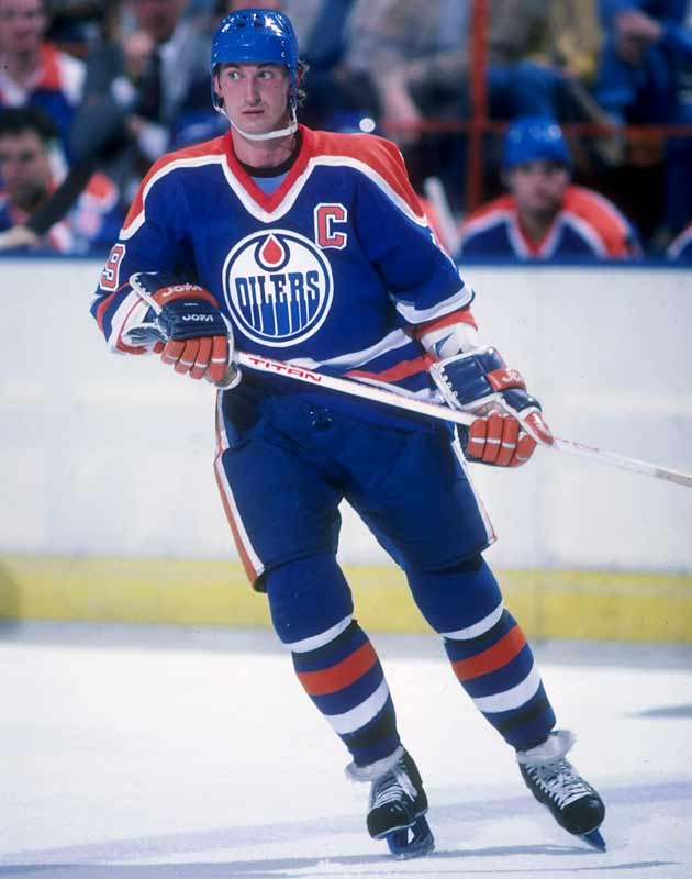 In a 7-5 victory over Winnipeg, Edmonton's Wayne Gretzky scores his 100th point of the season.