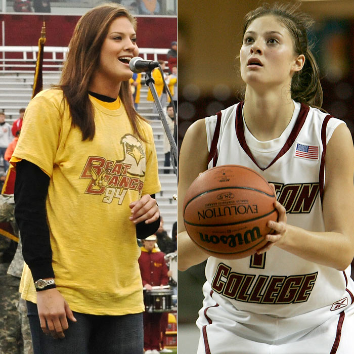 Ayla Brown, who advanced to the Round of 16 in the fifth season of Idol, played for Boston College women's basketball team. She may be best known, however, as one of the daughters of Scott Brown, who won a special election to gain the late Ted Kennedy's seat in the Senate.