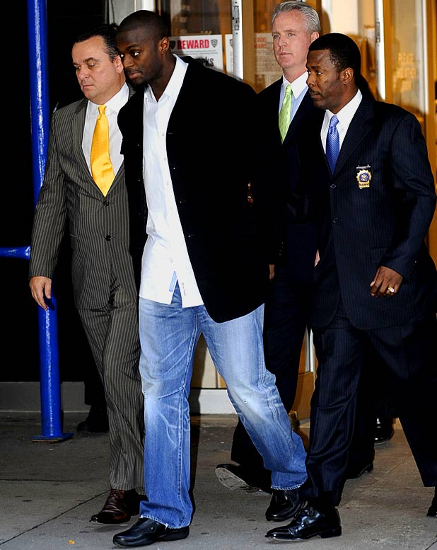 Perhaps the most infamous gun-toting athlete of late, Burress, a former Giants wide receiver, is serving a two-year prison sentence after pleading guilty to weapons charges. In November 2009, Burress accidentally shot himself in the leg when his pistol, tucked in the waistband of his sweat pants, went off while he was at a New York City nightclub.