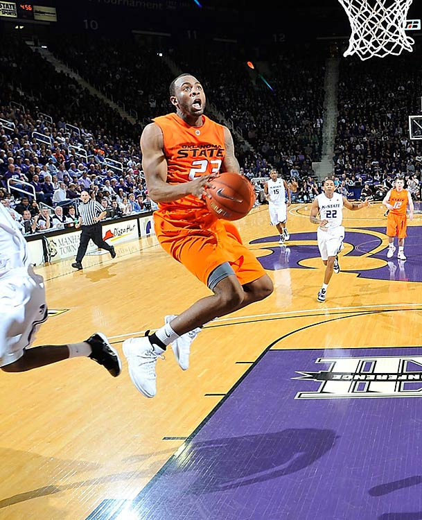 The Big 12's leading scorer at 22.3 points per game may be the best shooting guard in college basketball. In Oklahoma State's upset win at Kansas State, Anderson efficiently led the Pokes with 30 points, shooting 9-for-18 from the field and 10-for-11 from the foul line.
