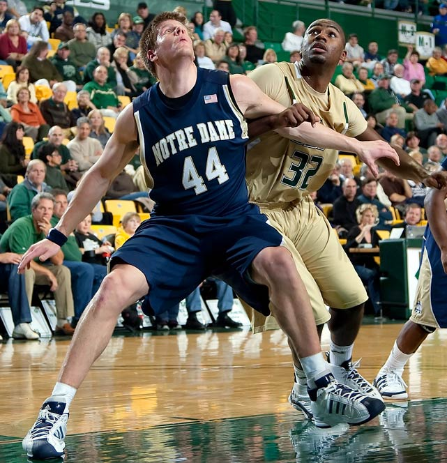 The two-time All-American and 2008 Big East Player of the Year leads the conference in scoring (24.7) and ranks fourth in rebounding (9.9). The 15-5 Fighting Irish look to ride their senior stud to a third NCAA tournament appearance in four seasons.