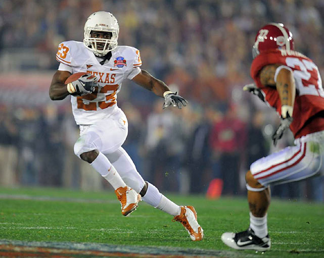 Tre Newton and Texas will always wonder what might have been if McCoy hadn't gone out with the injury.