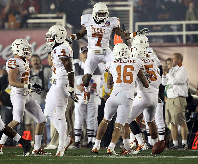 The Longhorns were pumped up early but came away with only a pair of field goals in two first-quarter trips into Alabama territory.