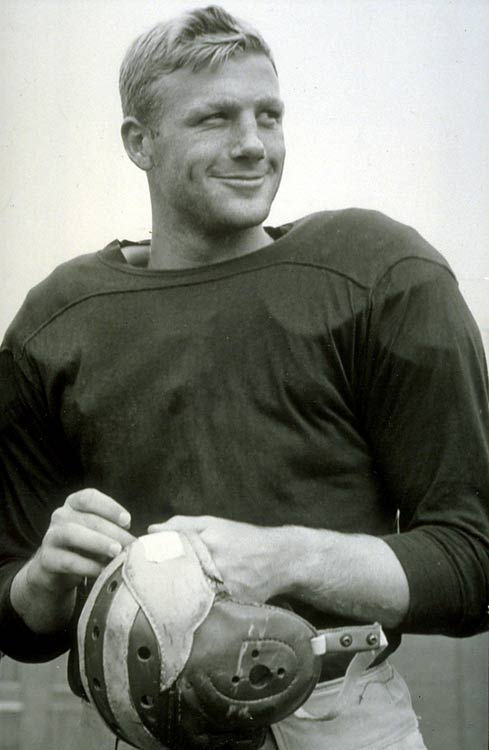 Pete Elliott began his Michigan career as a halfback. He finished as an All-America quarterback and a member of two national title teams.