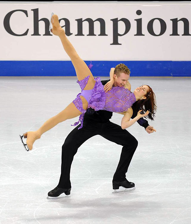 Samuelson and Bates placed third in the ice dancing free dance routine.
