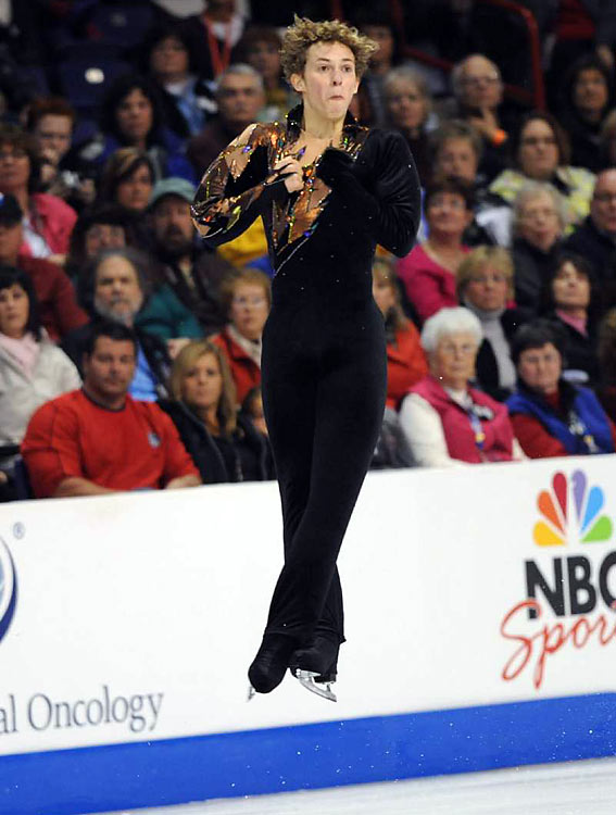 Adam Rippon had a better score than third-place overaall finisher Johnny Weir in the free skate, but couldn't overcome the lead Weir had amassed in the short program.