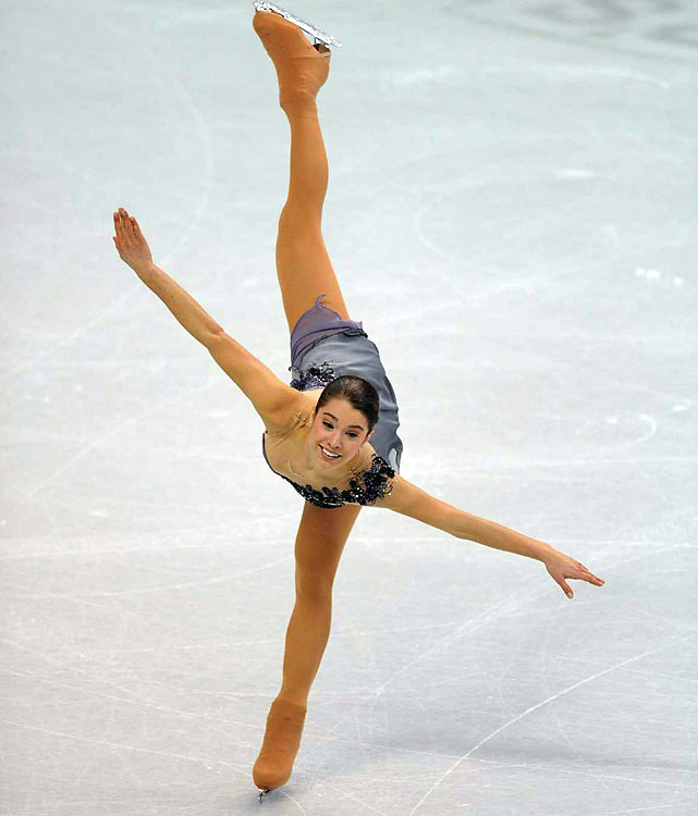 Alissa Czisny performs her free skate routine at the U.S. Figure Skating Championships. She finished 10th overall.