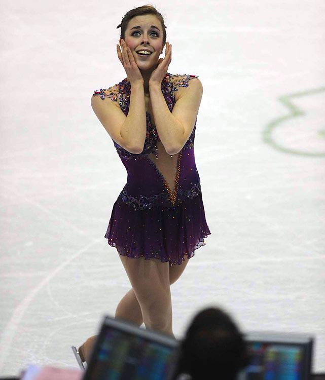 The bronze medalist at junior worlds, Ashley Wagner also finished third in Spokane.