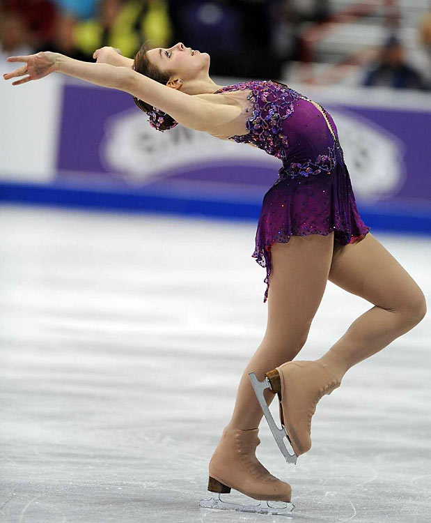 Ashley Wagner performs in Spokane.