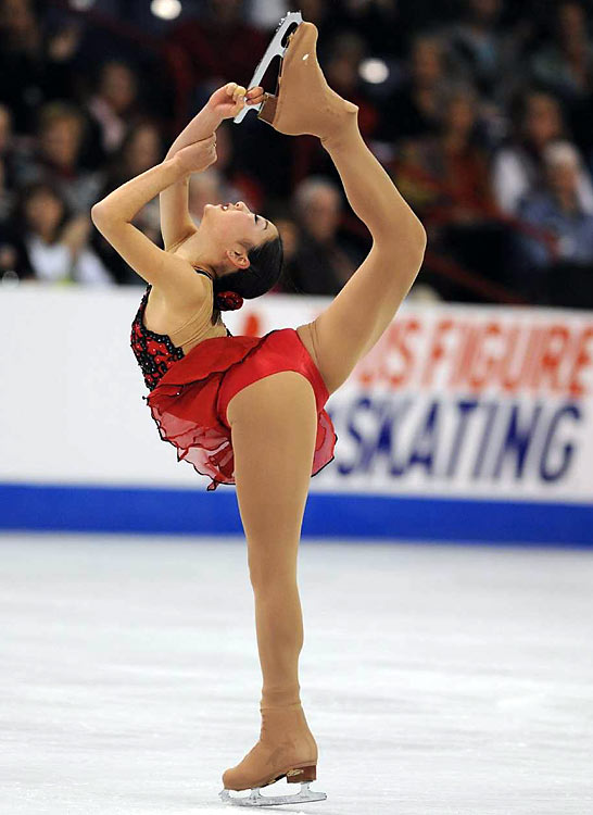 Nagasu finished second overall and earned a spot in the Vancouver Olympic Games next month.