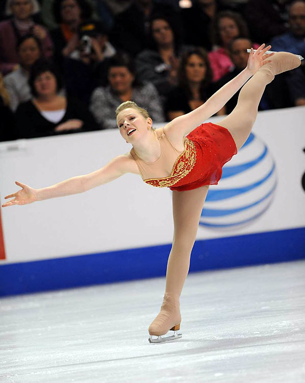 Rachael Flatt won the women's championship by performing brilliantly in her routine in the long program.