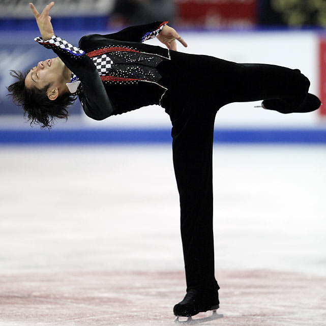 The first Japanese man to win a silver medal at the world championships (in 2007) missed all of the 2008-09 season after tearing ligaments in his right knee. Before his injury, he won the 2008 Four Continents Championship (where he notched an ISU-best 264.41 points) and had also medaled at the Grand Prix Final three years in a row. The 23-year-old, who finished eighth at the 2006 Olympics, returned to the ice last April and this season won his fourth national title, the Finlandia Trophy and a silver medal at Skate Canada.