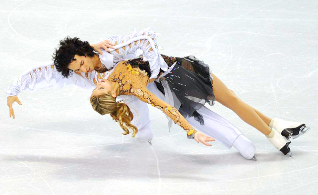 Tanith Belbin and Benjamin Agosto perform their free dance routine at the U.S. Figure Skating Championships in Spokane, Wash.. The pair finished in second place.