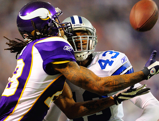 Sidney Rice's three touchdown receptions tied an NFL playoff record.