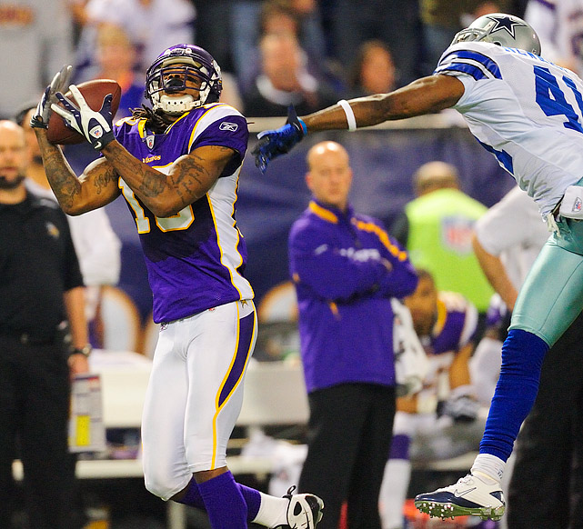 Sidney Rice finished with 141 yards receiving; three of his six catches went for touchdowns.