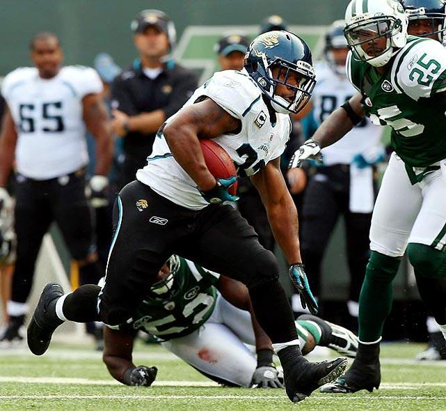 1,391 rushing yards, 15 TDs<br>374 receiving yards, 1 TD