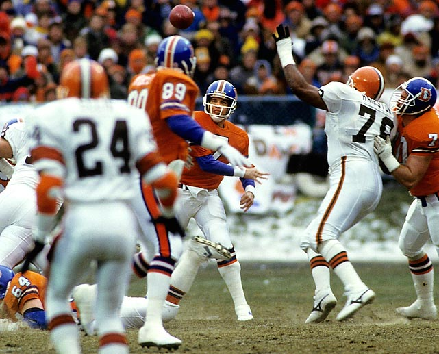 "The game is known, simply, as, ""The Drive."" It epitomized the legend that was Broncos quarterback John Elway's late-game heroics. What some tend to forget is the Browns actually had the first crack at rendering Elway's legendary 15-play, 98-yard game-tying drive into a footnote. The Browns won the overtime toss, but could not move the ball and it was Elway's final drive, during which he moved the Broncos 60 yards, that set up the game-winning Rich Karlis kick."