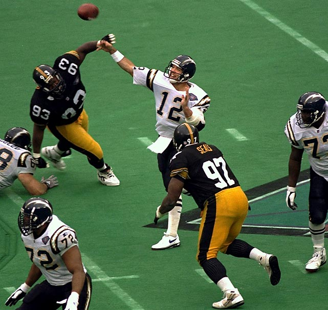 With the likes of Kevin Greene, Greg Lloyd and Rod Woodson leading the way, this Steelers defense would have gone down as one of the organization's all-time greats. If not for collapsing to, of all people, quarterback Stan Humphries. Dominant in every phase, the Steelers allowed Humphries to bring his squad back from a 13-3 halftime deficit, highlighted by a 43-yard touchdown pass to Tony Martin. The Steelers still managed to move into position to win, but fell three yards short on a fourth-down incompletion by Neil O'Donnell.
