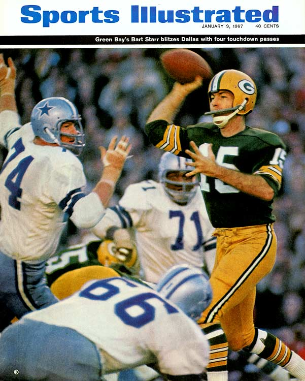 "Ever wonder what NFL life would be like with the ""Landry Trophy"" instead of the Lombardi Trophy? Before the Ice Bowl, the Cowboys could have won this one. The Packers went up 14-0 at the Cotton Bowl. The upstart Cowboys closed to within 21-20 later. The Packers stretched it out again to 34-20. But with Dallas within 34-27, Don Meredith carried his team to a first-and-goal at the Packers' 2-yard-line. Before long it was fourth-and-goal at the two. Then the Pack's Tom Brown intercepted a pass in the end zone.<br><br>Send comments to siwriters@simail.com"