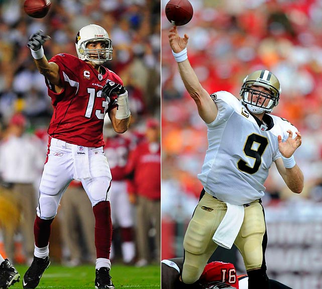 Let's be real, here. Players might always say that they play against the opposing defense, not the opposing quarterback, but that's not the reality. Brees and Warner will be keenly aware of what the other QB is doing. And they are even more aware that the Cards' defense ranks 23rd against the pass and the Saints' D ranks 26th against the pass. It's time for the big stars to Cowboy up, or Cajun up, as the case may be.