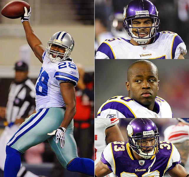 As hot as the Cowboys are, naturally they can come at you a dozen different ways and beat you. They can nickel-and-dime you with an array of backs. But only one can gobble up yardage a counterfeiter would love -- in 10s and 20s. That's Jones. And that's the issue for the Vikings safeties (Johnson, 25; Williams, 20; Sanford, 33), who have struggled finishing tackles and making plays.