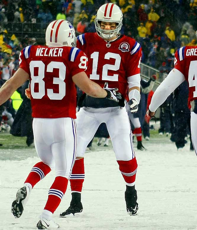 On a snowy October Sunday in Foxboro, Tom Brady threw five touchdown passes in the second quarter against Tennessee, the most ever in a single NFL quarter. The Patriots led 45-0 at halftime, another NFL first.