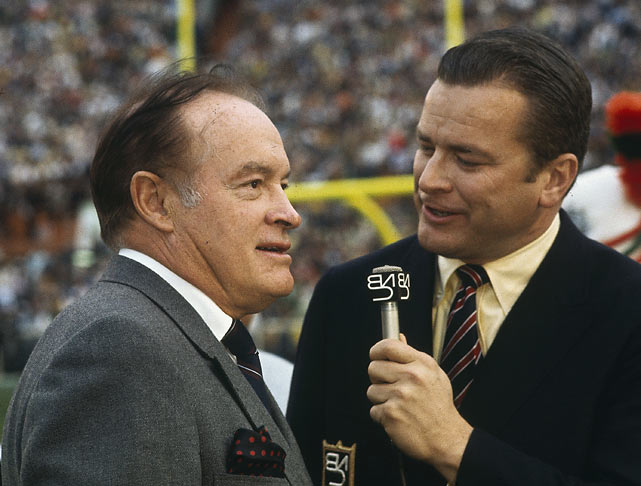 Bob Hope led the pregame celebration, honoring the astronauts of Apollo 8, who just completed the first manned flight around the moon.