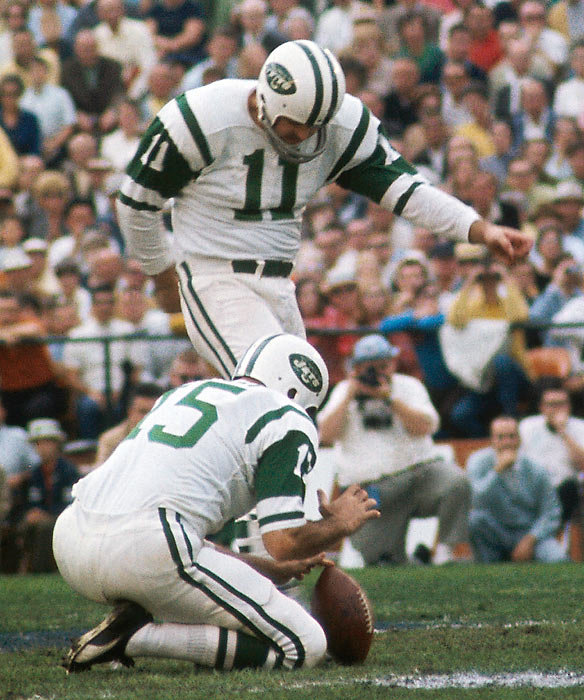 Jets placekicker Jim Turner was the game's highest scorer, connecting on three field goals (32, 30, 9) and missing two (41, 42).
