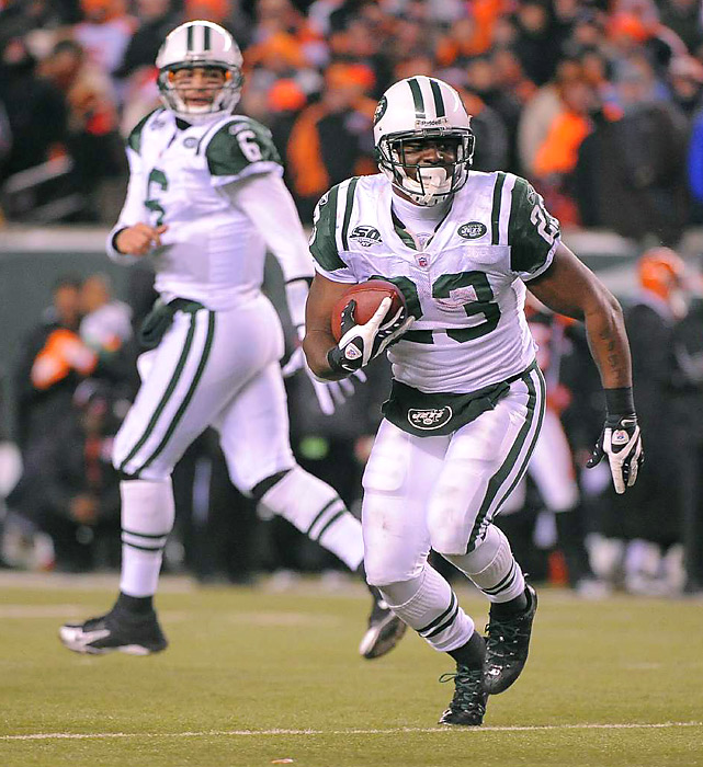 The rookie pair played starring roles in the Jets' 24-14 road win over the Bengals, amassing 317 total yards and two touchdowns. Next up for New York: A cross-country date with San Diego.