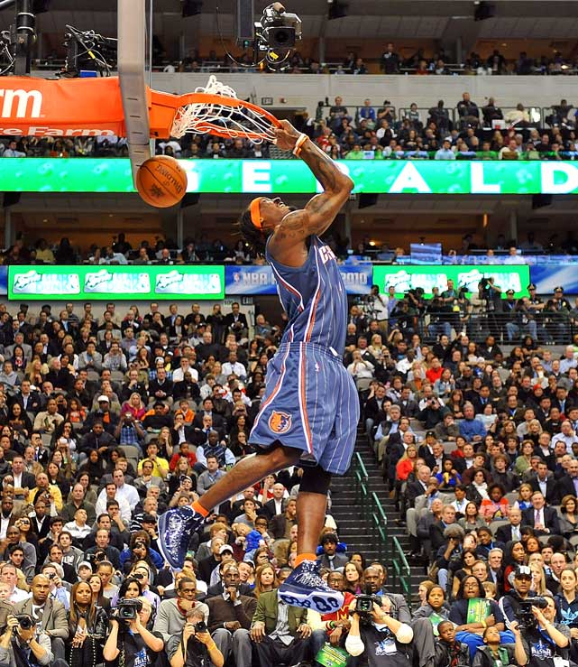 "Nicknamed ""Crash,"" Bobcats' forward Gerald Wallace struggled to nail some of the high-flying dunks he's known for in Charlotte."