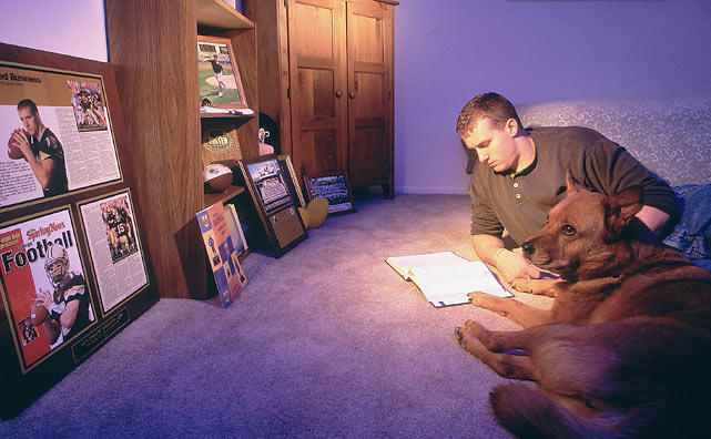 Before he was a Super Bowl-winning quarterback, Drew Brees would hit the books at Purdue with man's best friend.