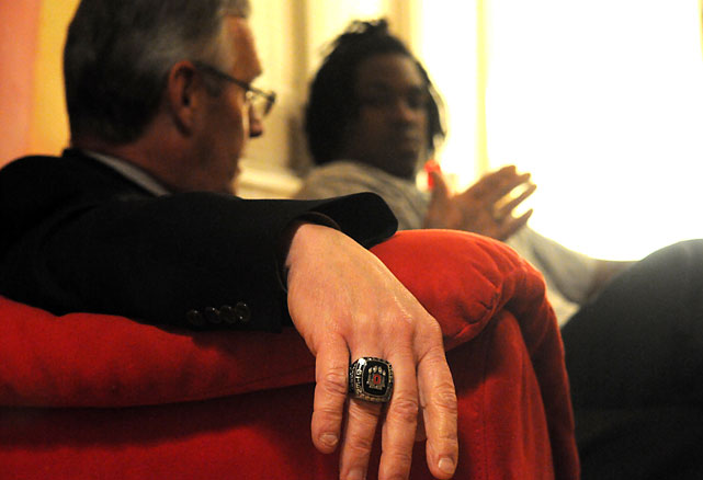 Henderson was reminded of Ohio State's recent dominance, as Buckeyes coach Jim Tressel wore his Big Ten championship ring on his visit to the Henderson home.