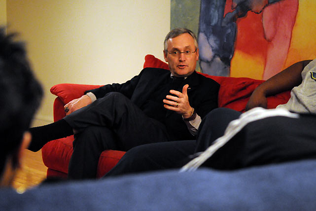 Jim Tressel made himself at home with the Henderson family; he was the only visiting coach who left his shoes by the door.