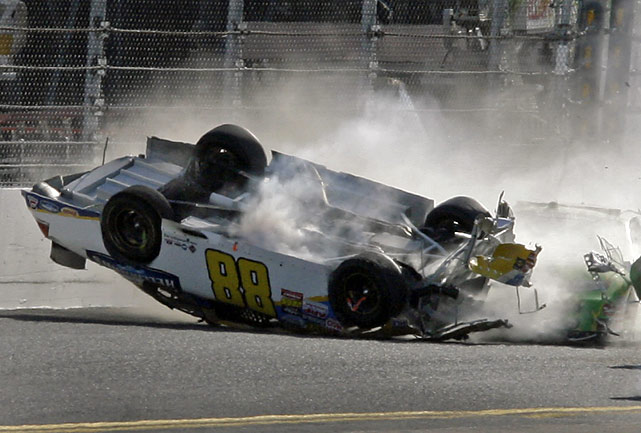 Earnhardt walked away from the crash unscathed.