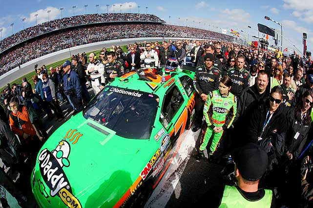 Danica Patrick made her Nationwide Series debut on Saturday at Daytona International Speedway, driving the JR Motorsports Go Daddy.com car.
