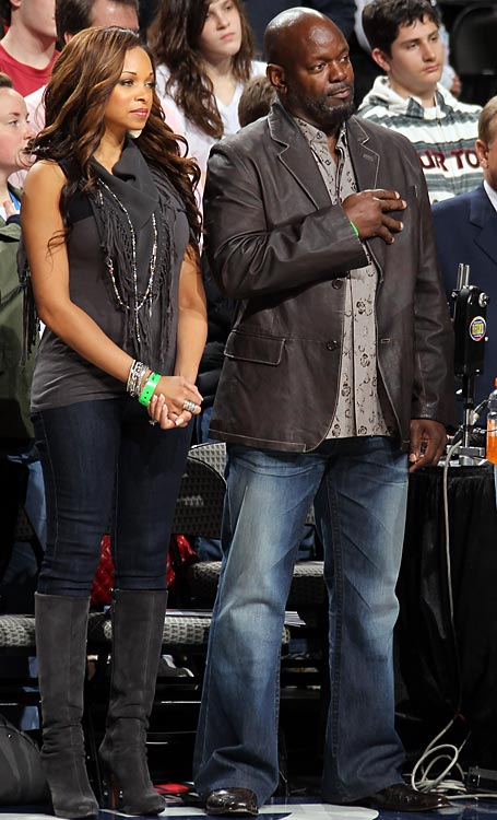 Another Cowboys staple, Emmitt Smith, wasn't about to miss the big game.