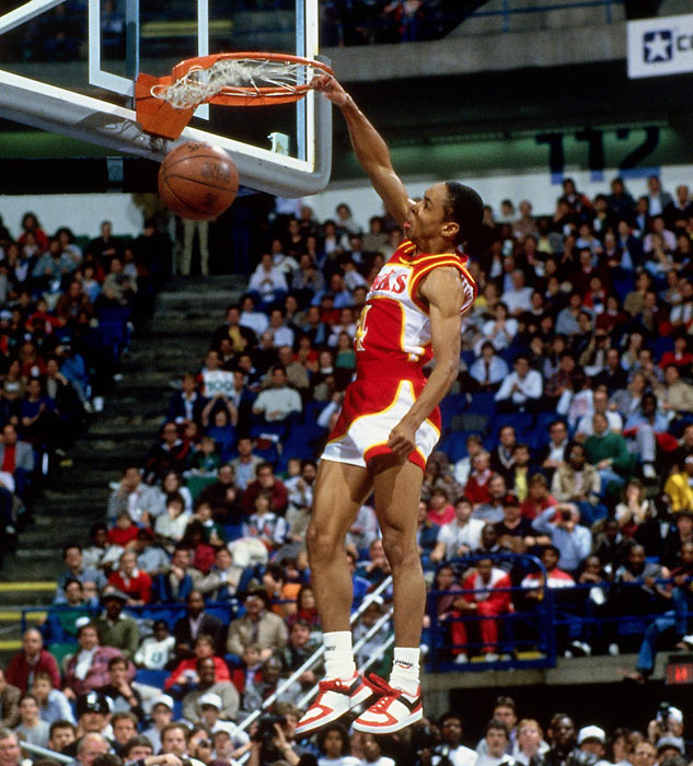 At 5-foot-7, Webb amazed fans by keeping up with the game's top athletes in winning the 1986 dunk contest.