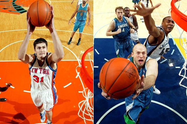 Darko Milicic, the No. 2 pick in the 2003 draft, is joining his fifth team after being sent to Minnesota for Brian Cardinal and his expiring contract. Milicic has said he plans to return to Europe next season, but the Timberwolves are expected to give him plenty of playing time at center in hopes that he'll produce and consider sticking around.