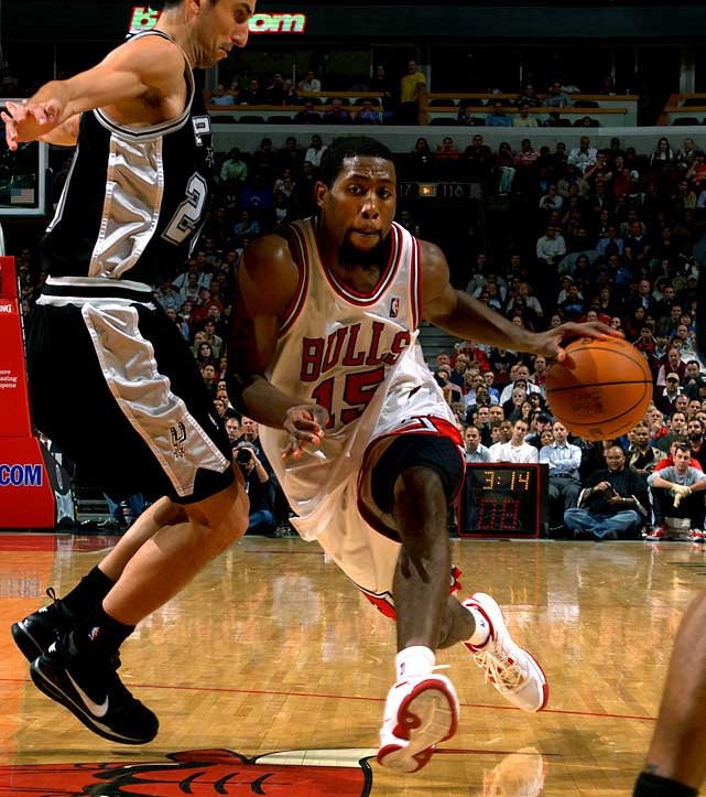 By trading starter-turned-reserve John Salmons, who has a $5.8 million player option for next season, the Bulls cleared up even more cap room for this summer's free-agent market. Chicago received two players with expiring deals in Hakim Warrick (10.2 ppg) and first-round disappointment Joe Alexander, while the Bucks obtained two second-round picks and also have the right to swap first-round picks this year as long as the Bulls' pick is outside the top 10.