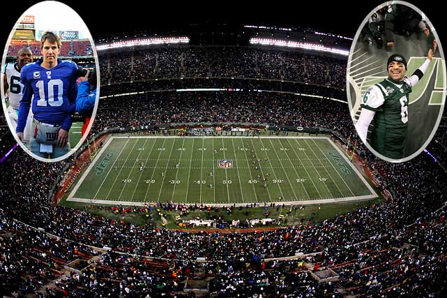 It was never one of the league's crown jewels, but the 34-year-old Giants Stadium hosted more NFL games than any other building, thanks to the two franchises that called it home.  Both teams bid farewell to their memory-filled home in different ways.  The stadium's namesakes lost 41-9 to the Panthers on Dec. 27; the Jets clinched a playoff berth with a 37-0 demolition of the Bengals on Jan. 3, and afterward did a lap of the old place to express their gratitude to fans. Both teams will next season move to the gleaming new facility that was constructed across the parking lot -- which, at $1.6 billion, cost more than 21 times to build than did its bare-bones predecessor.
