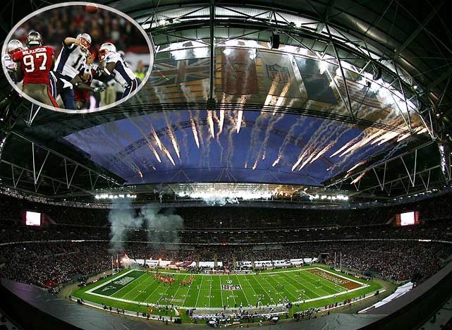 A sellout crowd of 84,254 attended the NFL's third regular season game at England's Wembley Stadium, where Tom Brady and the Patriots drilled the Tampa Bay Buccaneers 35-7 in October. The Bucs gave up a home game to play in London. In 2010, San Francisco will do the same when it plays against Denver.
