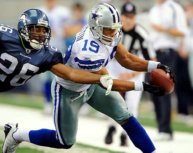 Several breakout players emerged this season, including Dallas wideout Miles Austin, whose 11 touchdown receptions trailed only Larry Fitzgerald and Randy Moss among wide receivers (both with 13) and whose 1,320 receiving yards were behind only Andre Johnson's 1,659 and Wes Welker's 1,348.