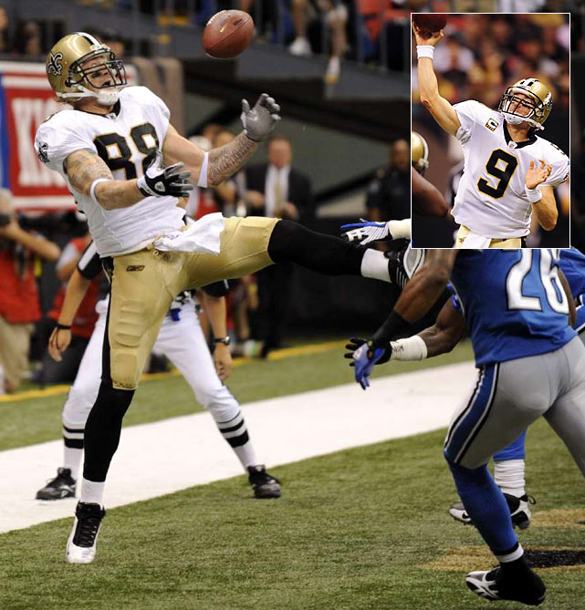 The Saints kicked the season off with a bang, beating up on the Lions 45-7. Drew Brees led the way with 358 passing yards and six TD passes while Jeremy Shockey, who struggled for much of 2008, caught two touchdowns.