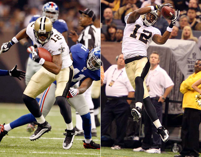 The Saints' offense got back on track against the  Giants as Drew Brees carved up New York's secondary en route to a 369-yard, four-touchdown performance. Marques Colston added eight catches for 166 yards and a touchdown in the 48-27 victory.