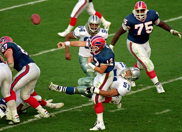 What we had here was a dynasty playing its best football against a team achieving the infamy of four successive Super Bowl defeats. The Bills struggled and pressed all afternoon, turning the ball over nine times. NINE: five fumbles and four interceptions.