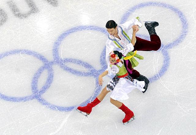 Anna Zadorozhniuk and Sergei Verbillo of Ukraine.