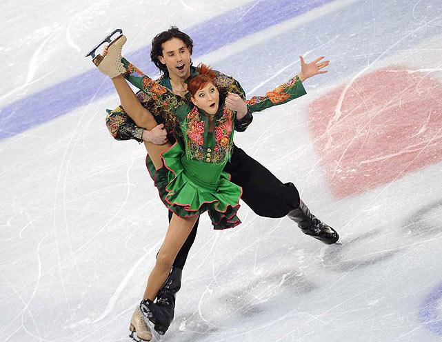 Russia's Jana Khokhlova and Sergei Novitski.