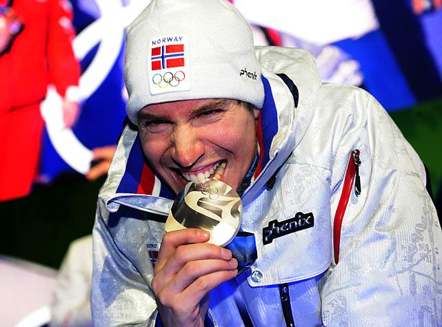 Norwegian silver medallist Emil Hegle Svendsen.