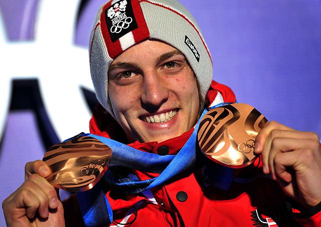 Austria's bronze medalist Gregor Schlierenzauer.
