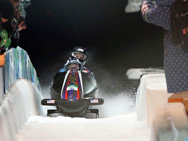 Steve Holcomb of the United States finished sixth in the two-man.
